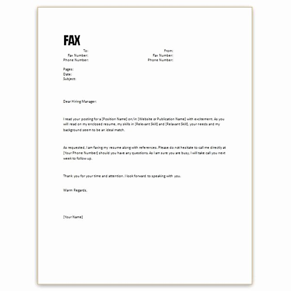 Cover Letter for A Fax Awesome Free Microsoft Word Cover Letter Templates Letterhead and