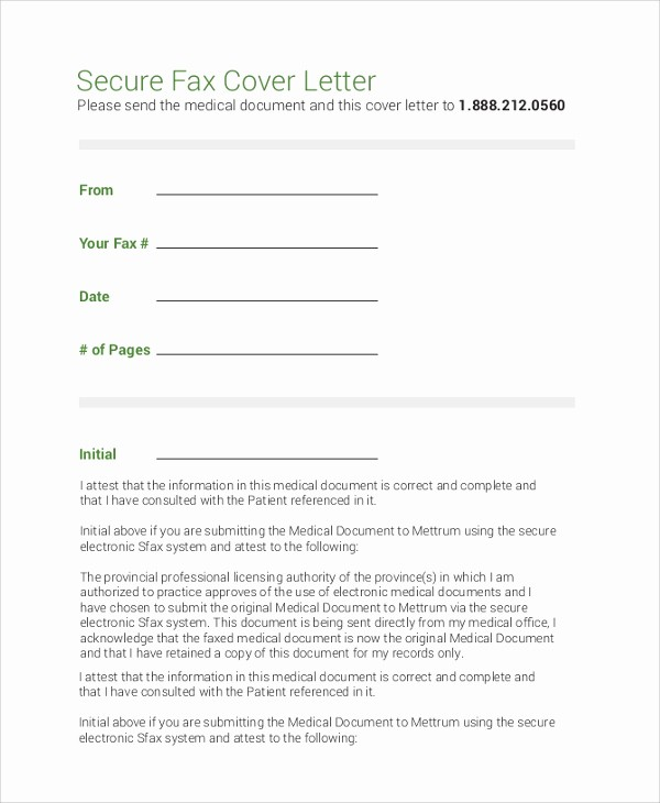 Cover Letter for A Fax Elegant 8 Sample Fax Cover Letters – Pdf Word