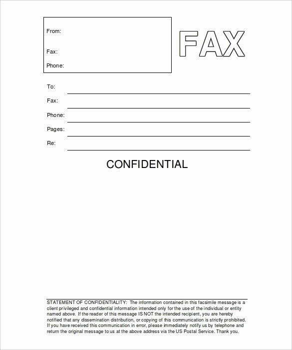 Cover Letter for Fax Document Awesome Fax Cover Letter Word Document