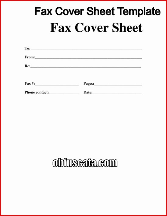 Cover Letter for Fax Document Inspirational Best Fax Cover Sheet Templates