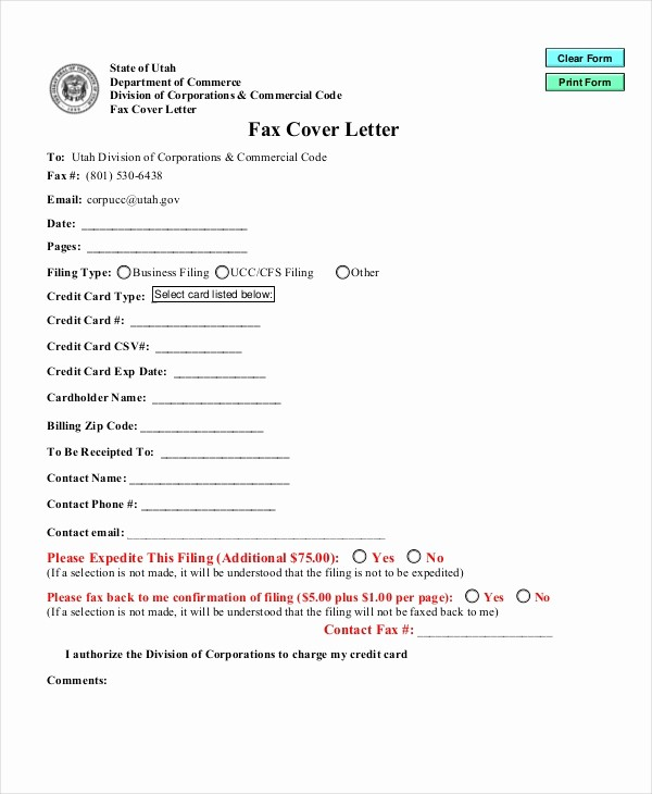 Cover Letter for Fax Document Unique Cover Letter format 17 Free Word Pdf Documents