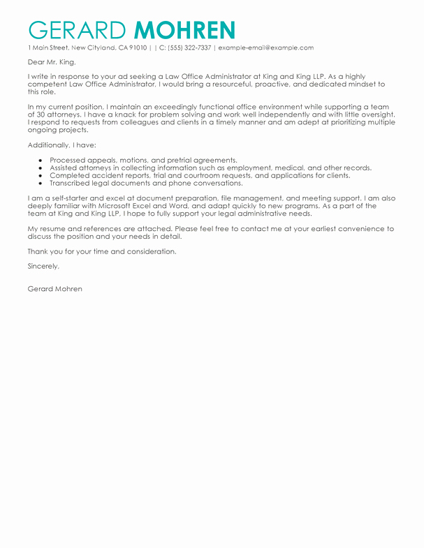 Cover Letter for Office Work Best Of Best Fice Administrator Cover Letter Examples