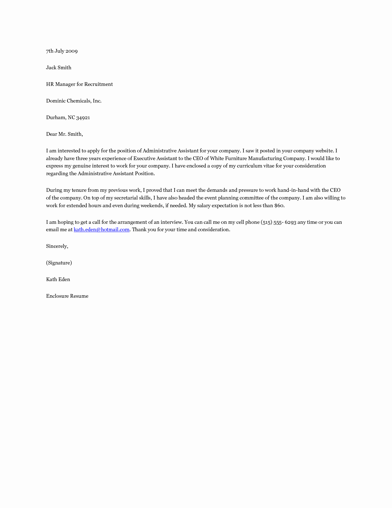 Cover Letter for Office Work Fresh Short Cover Letter for Fice Administrator