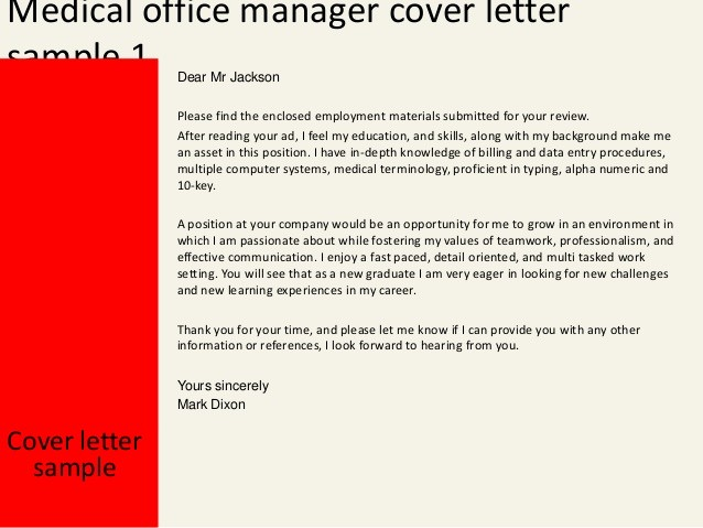 Cover Letter for Office Work Luxury Medical Office Manager Cover Letter