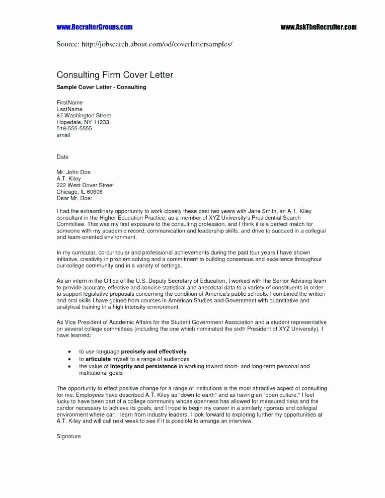 Cover Letter for Staffing Agency New Cover Letters to Recruitment Agencies – Resume Pro