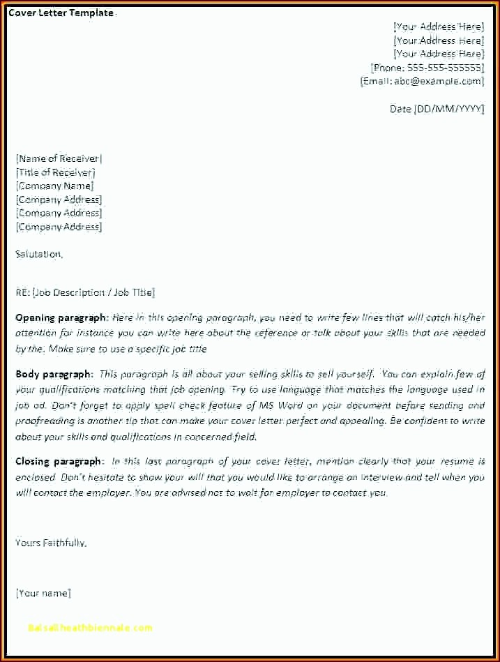 Cover Letter Microsoft Word Template Lovely 7 Cover Letter Template Microsoft Word Template