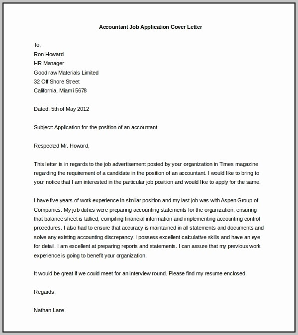 Cover Letter Microsoft Word Template New Free In Resume