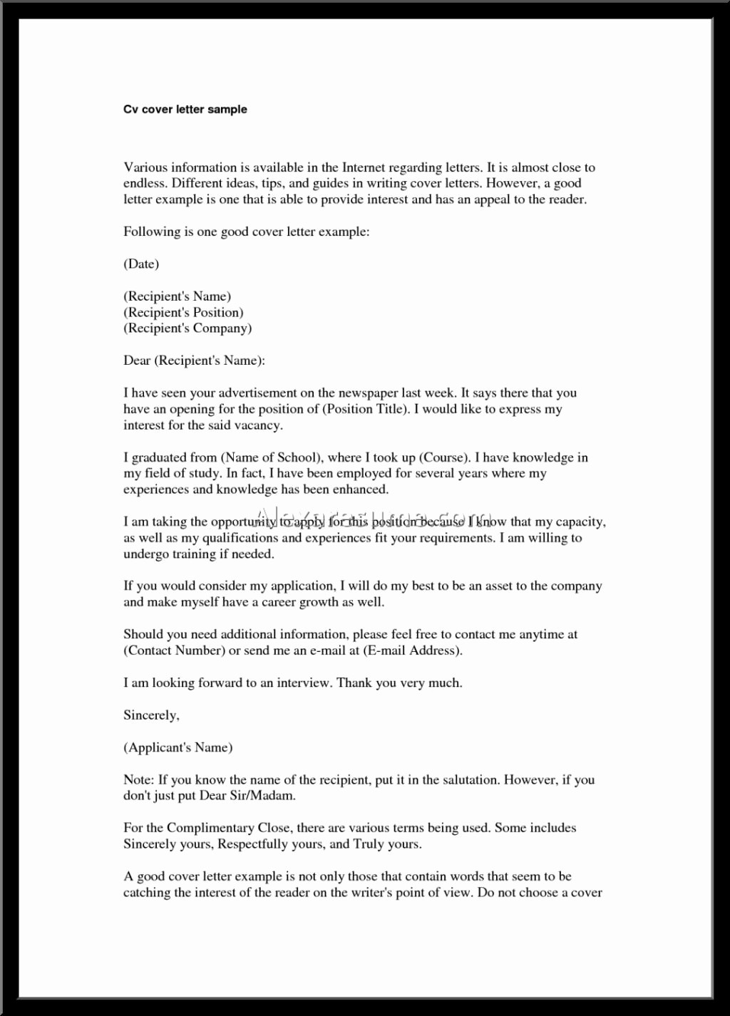 Cover Letter On A Resume Best Of Best Good Cover Letter for Resume – Letter format Writing