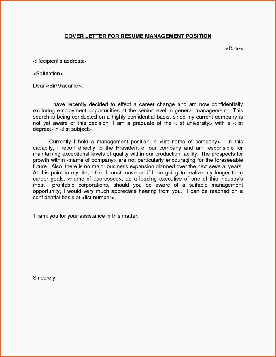Cover Letter On A Resume Inspirational Cover Letter Examples for Manager Position