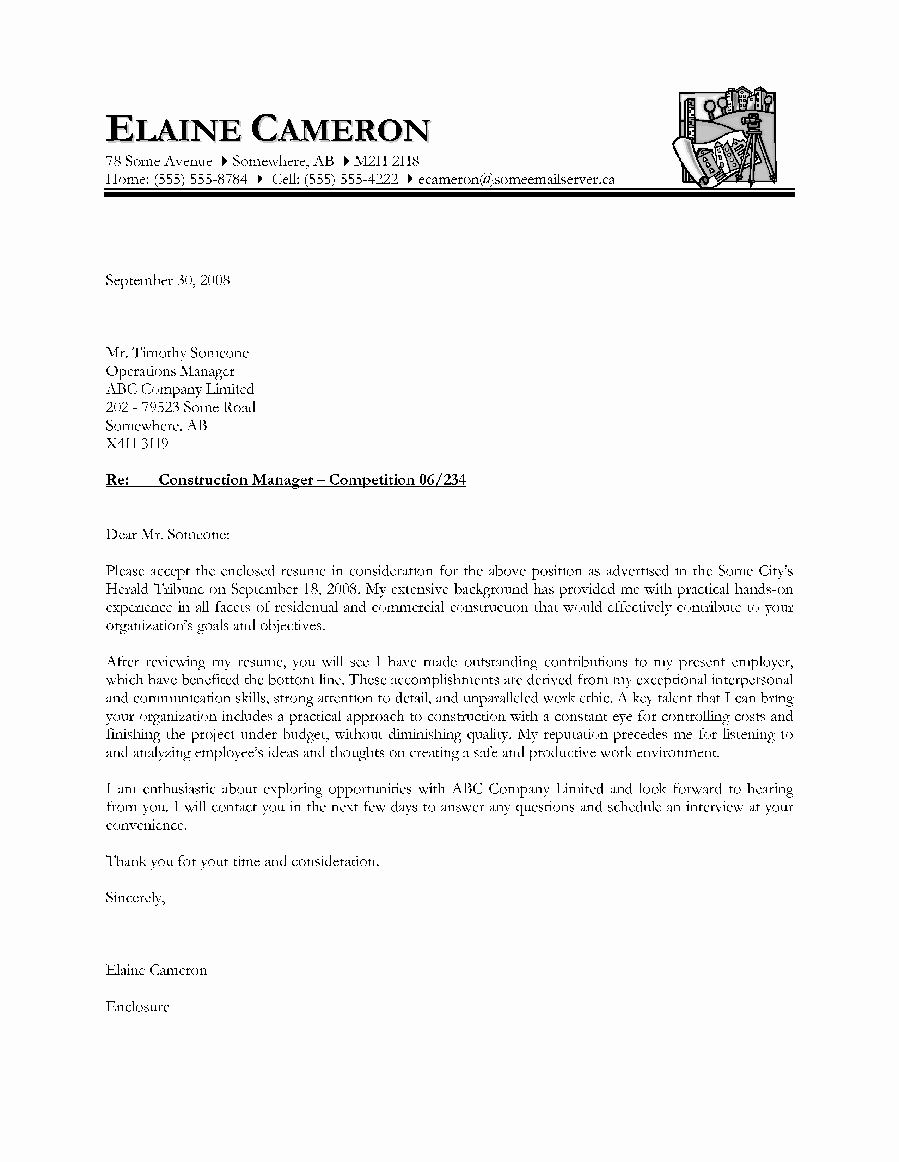 Cover Letter Template for Pages Elegant Cover Letter Examples Canada