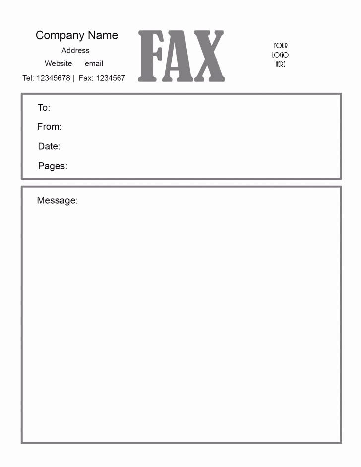 Cover Letter Template for Pages Fresh Fax Cover Sheets Cover Trakore Document Templates