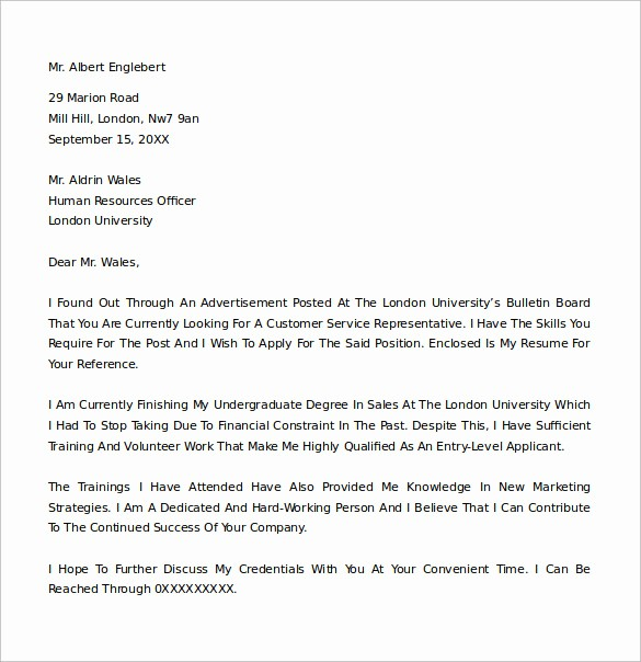 Cover Letter Template Free Download Awesome 25 Cover Letter Example Download for Free