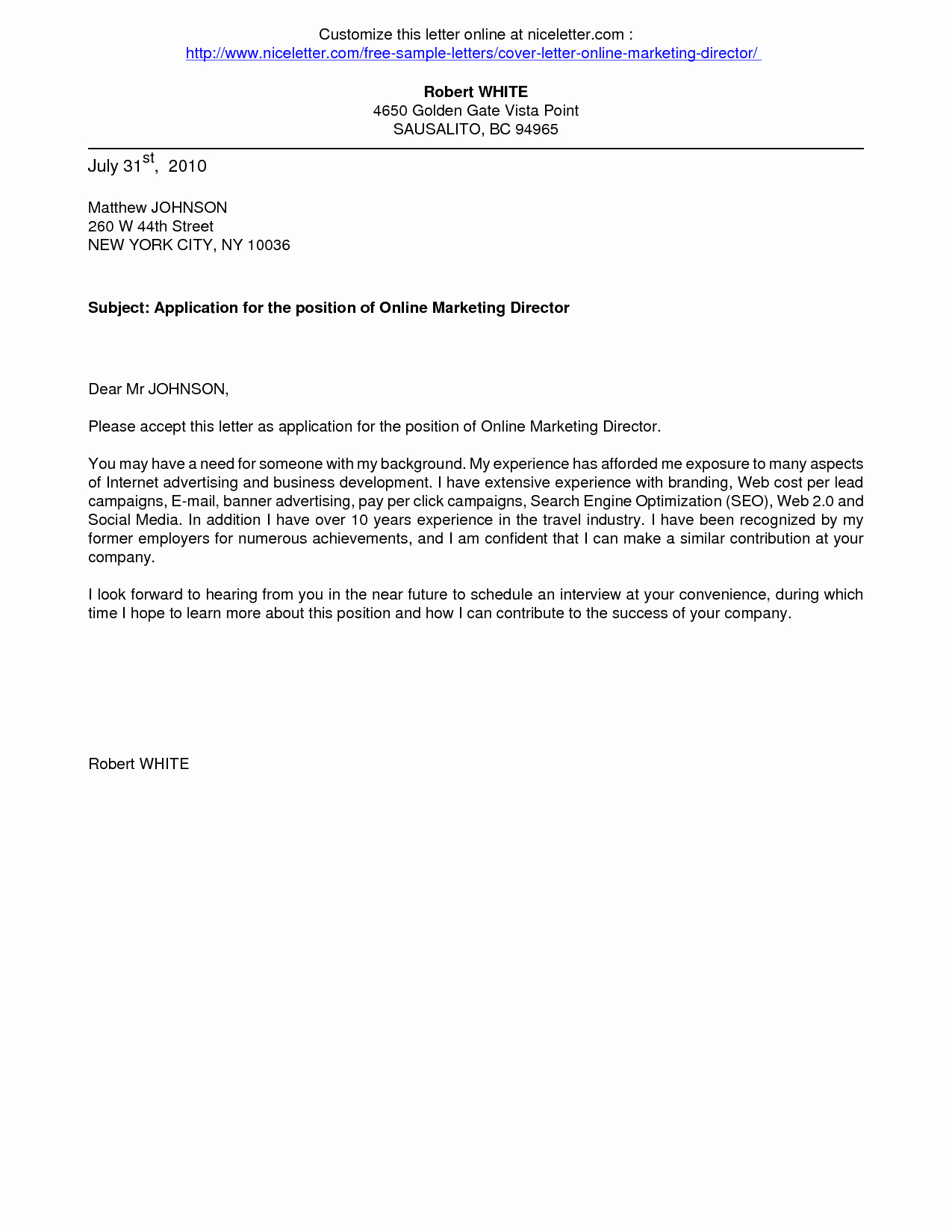 Cover Letter Template Free Download Elegant Download Cover Letter format