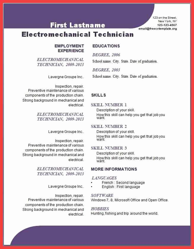 Cover Letter Template Word 2013 Lovely Resume Templates Word 2013