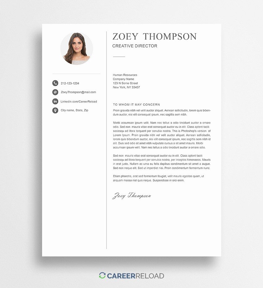 Cover Letter with Photo Template Elegant Free Shop Cover Letter Templates Free Download
