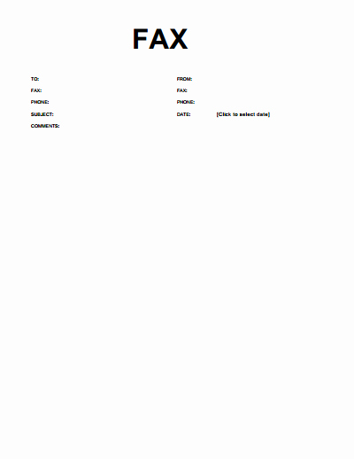 Cover Page for A Fax Awesome Basic Fax Cover Sheet Download Create Edit Fill and