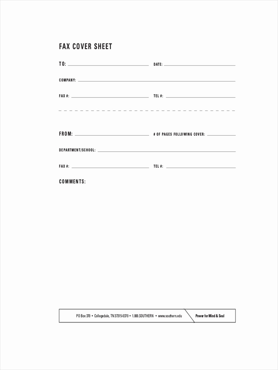 Cover Page for A Fax Luxury 11 Fax Cover Sheets Examples & Samples