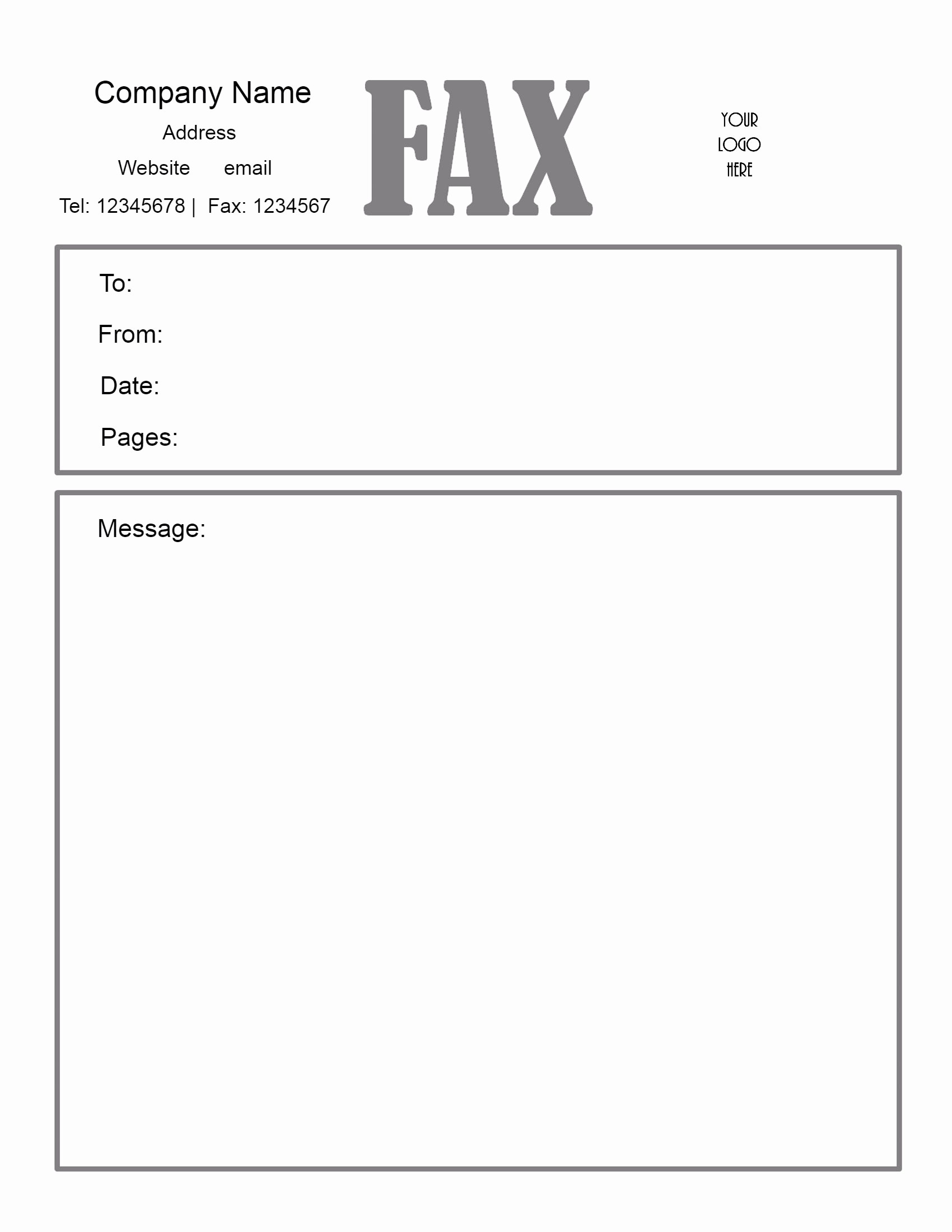 Cover Page for A Fax New Free Fax Cover Sheet Template