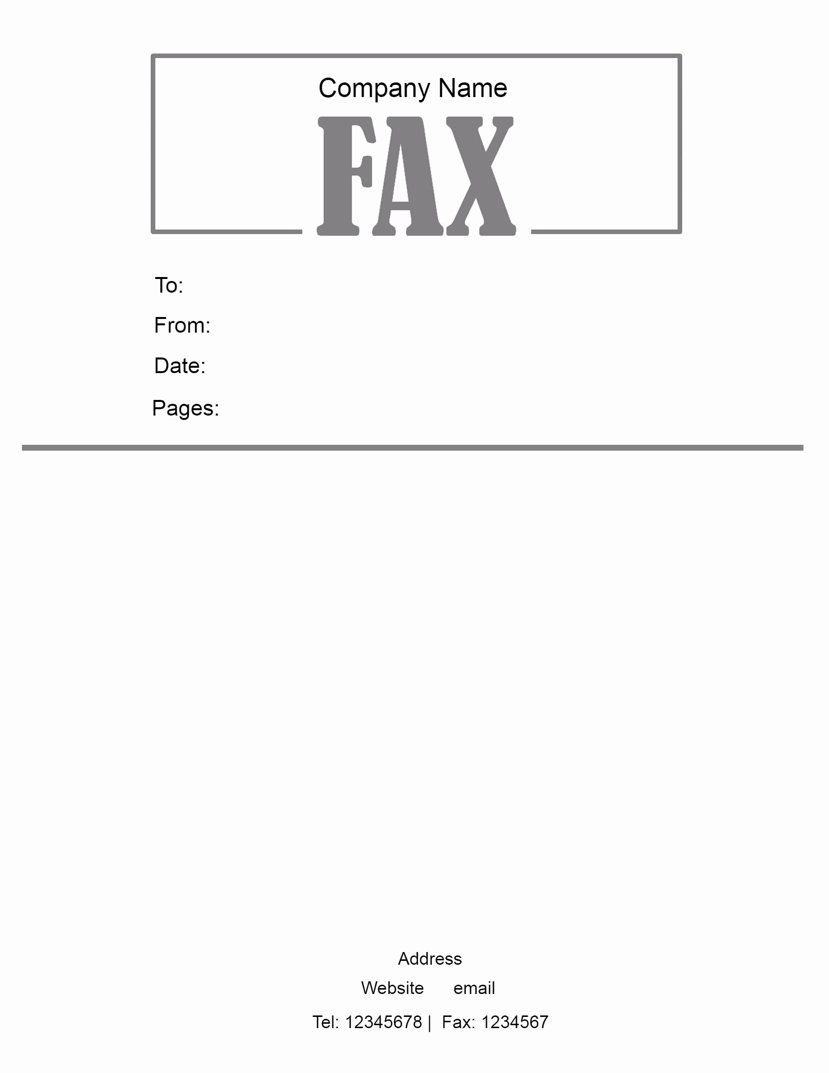 Cover Page for A Fax Unique Free Fax Cover Sheet Template