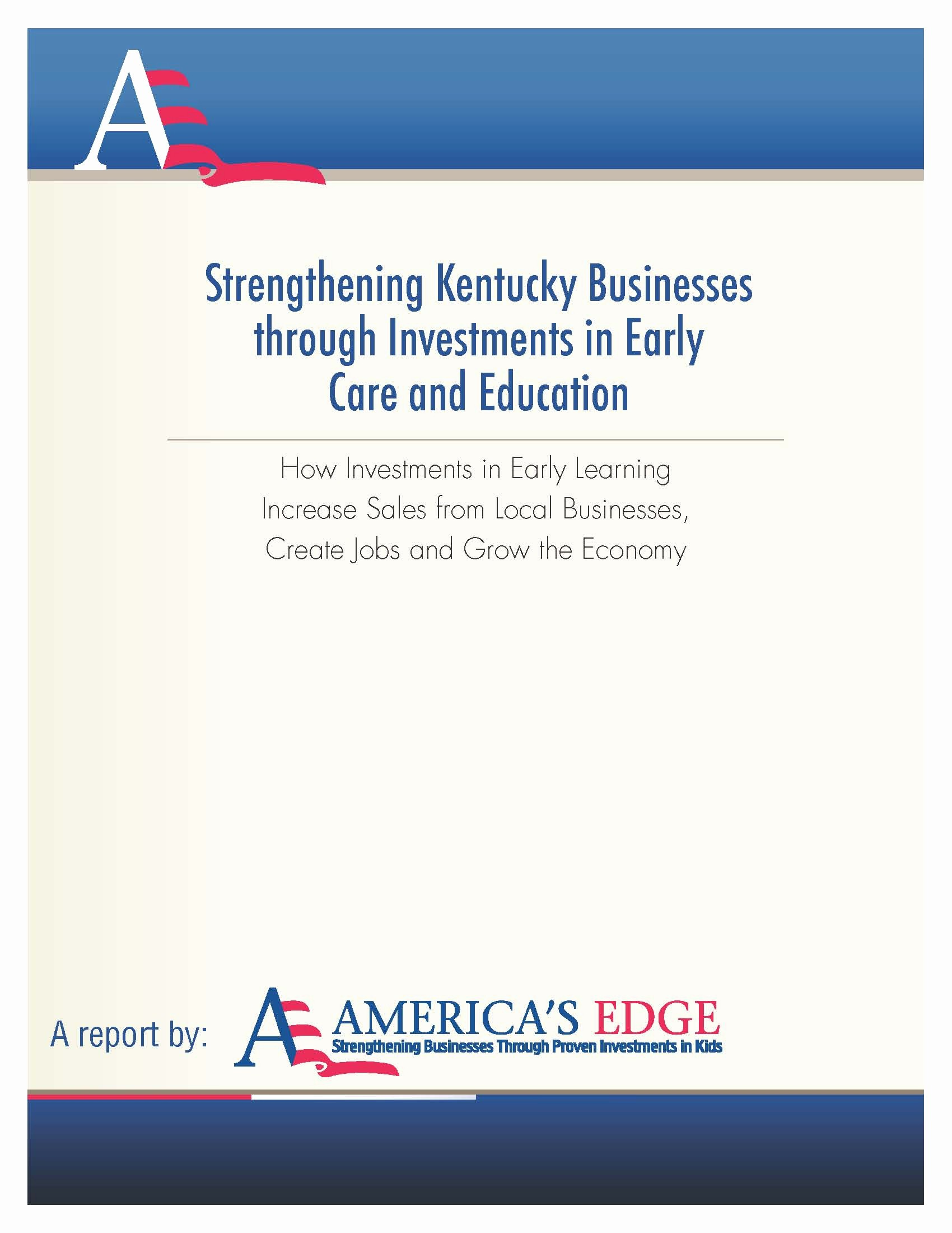 Cover Page for A Report Best Of Cover Page From Ky Early Ed Economic Analysis Report