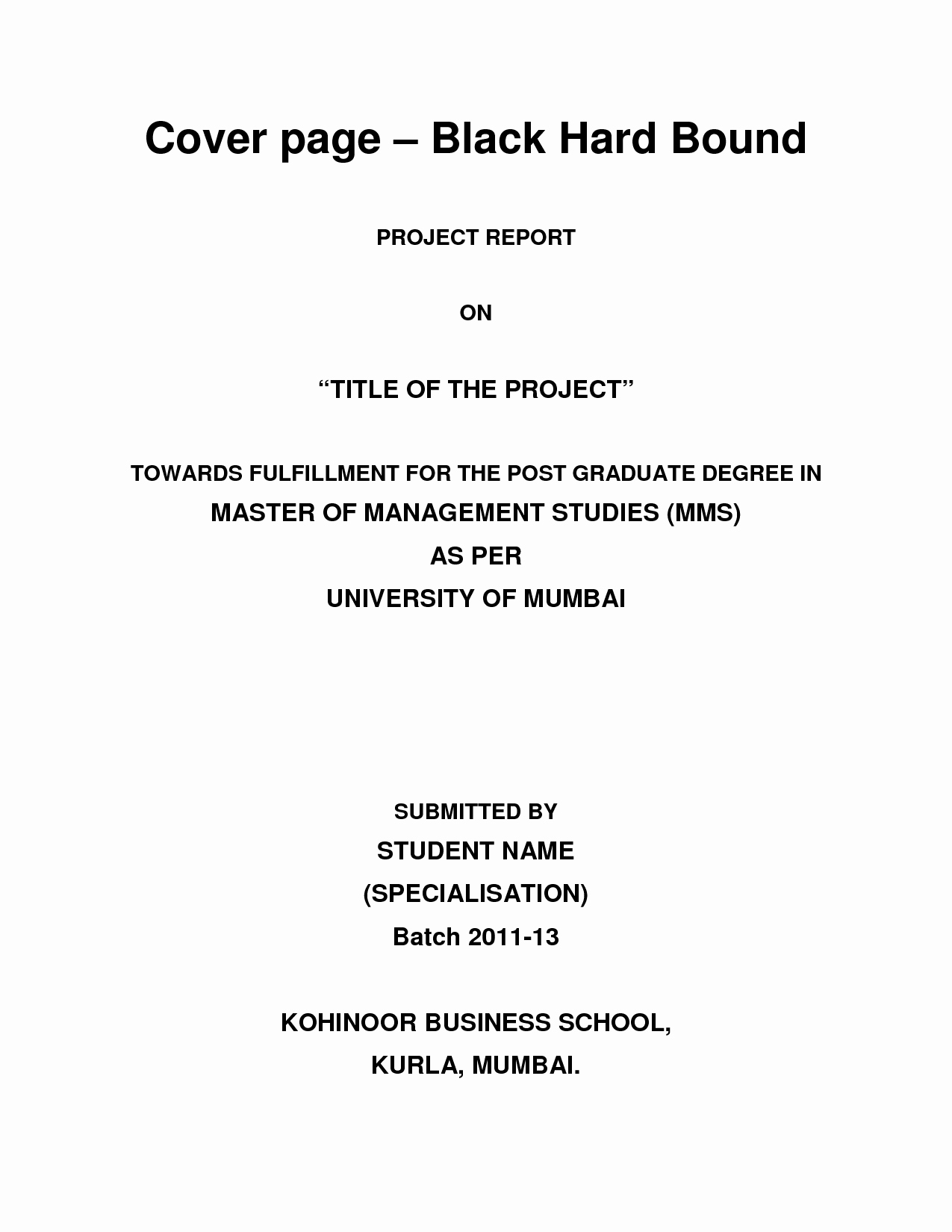 Cover Page for A Report Best Of Example Academic Report Writing format & Line Essays