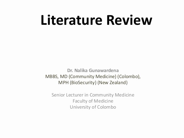 Cover Page for Literature Review Awesome Literature Review Nihs2