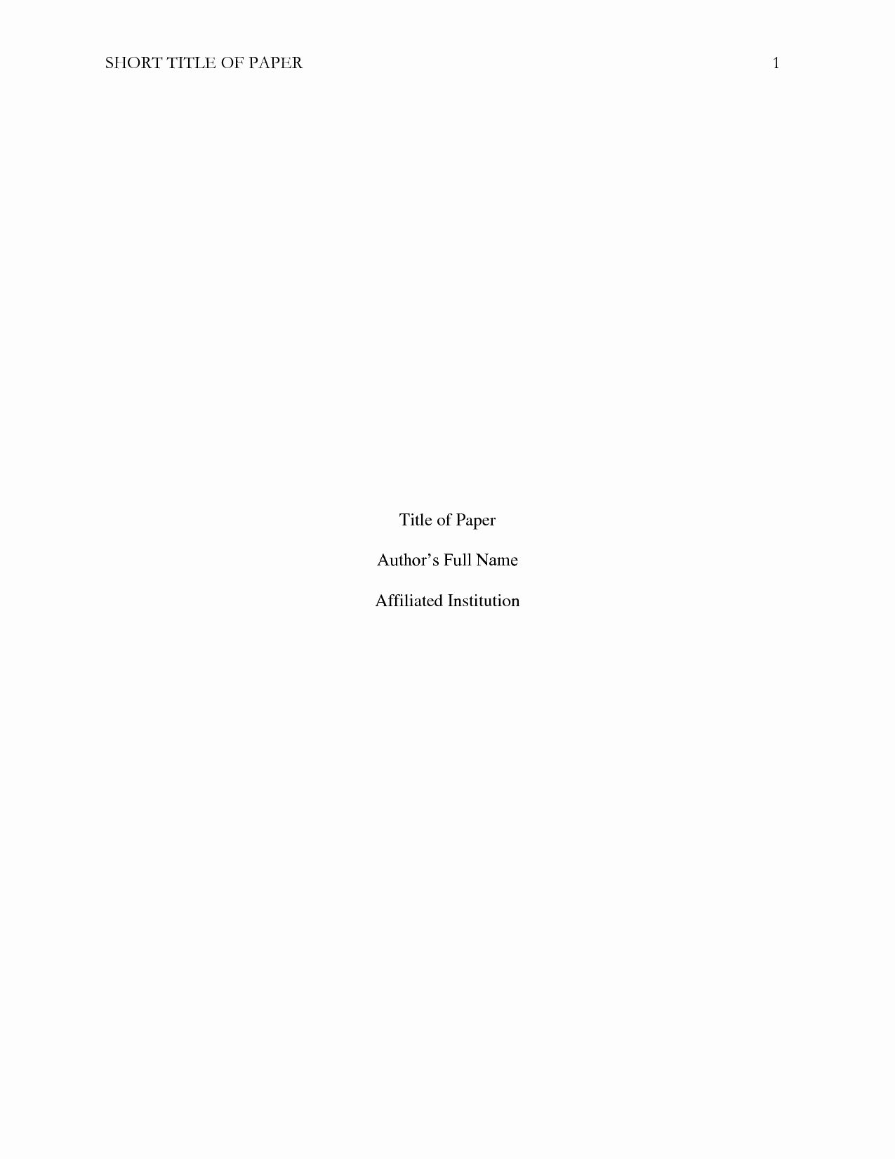 Cover Page for Literature Review Inspirational Best S Of Literature Review Apa Title Page Apa