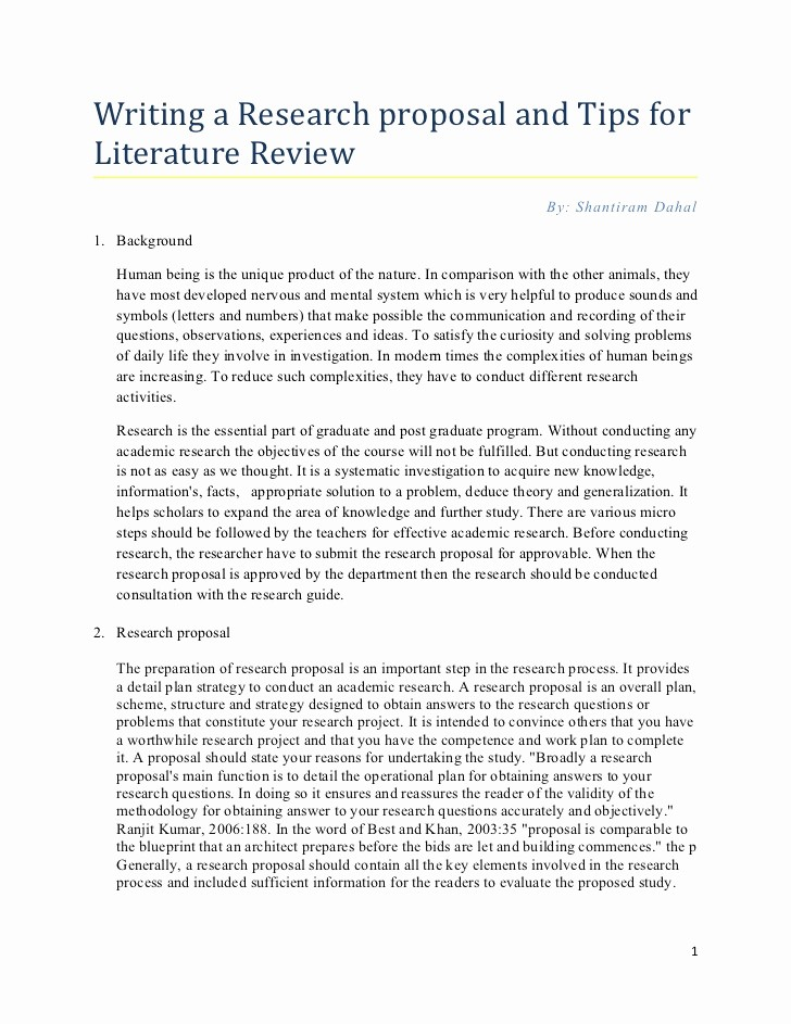 Cover Page for Literature Review New Research Proposal Tips for Writing Literature Review