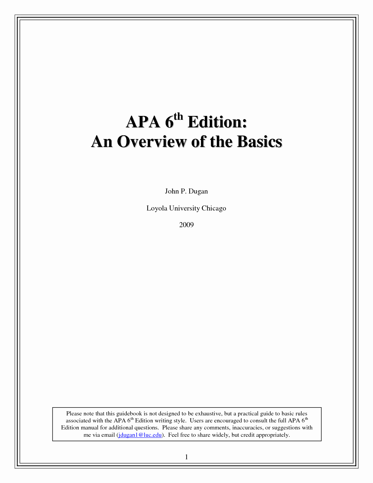 Cover Page for Literature Review Unique Apa 6th Edition Template