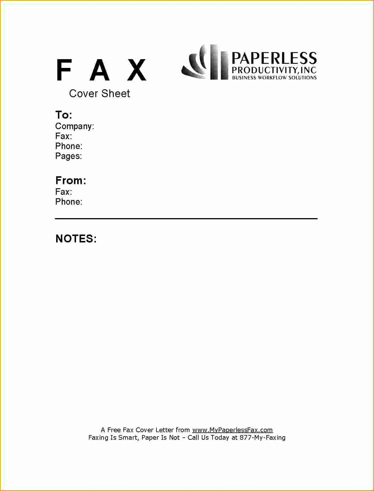 Cover Sheet for A Fax New 6 Example Fax Cover Sheet