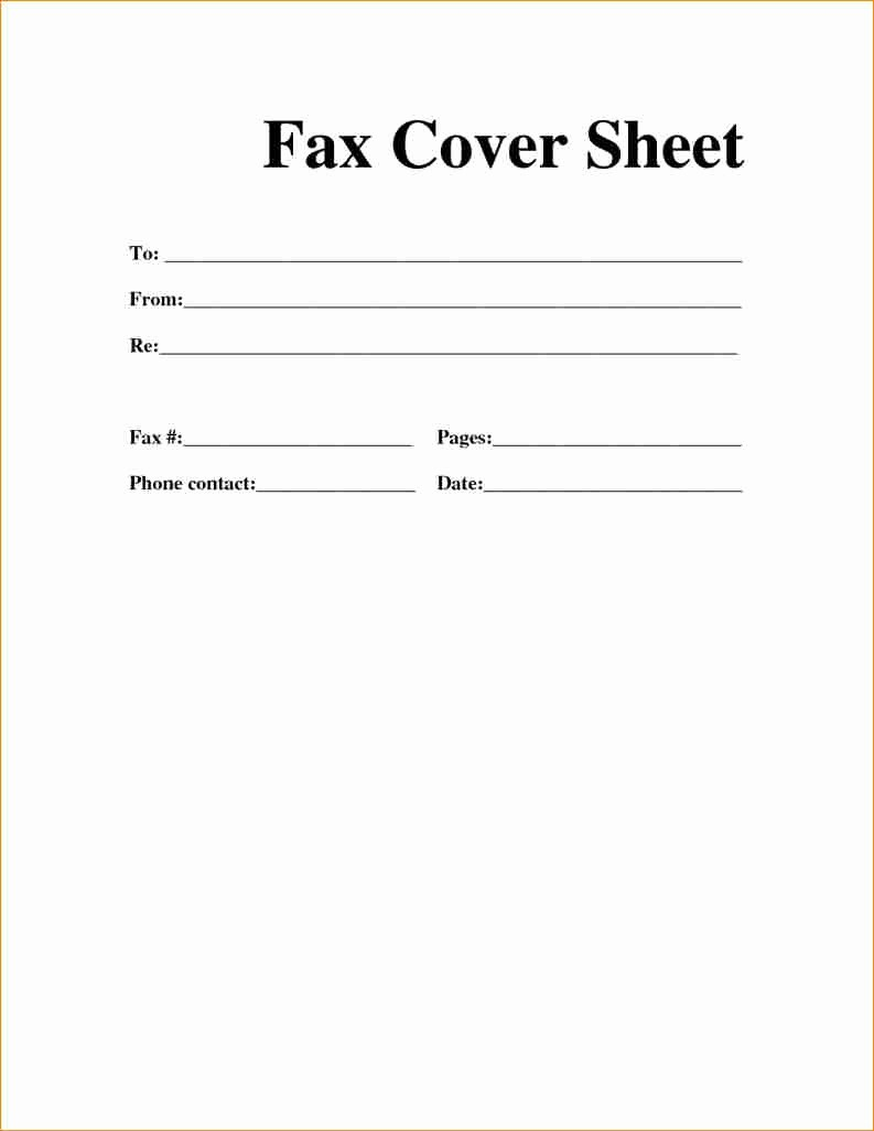 Cover Sheet for Fax Example Awesome [free] Fax Cover Sheet Template