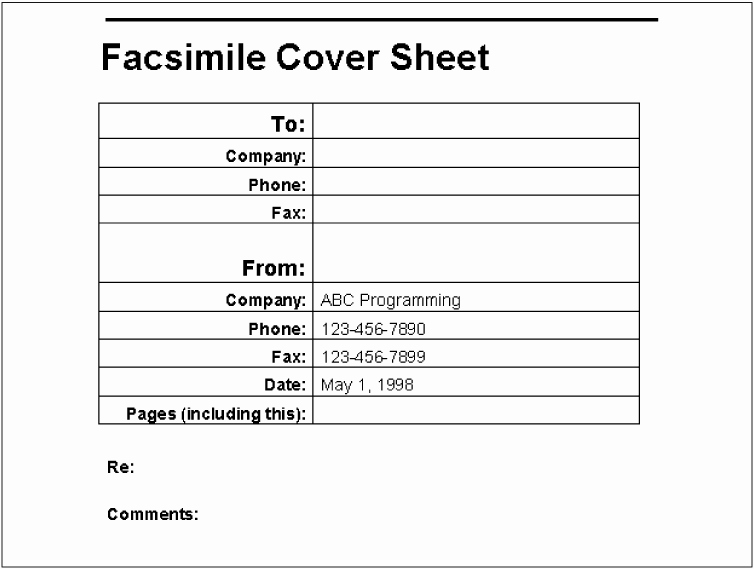 Cover Sheet for Fax Example Inspirational Example A Fax Cover Sheet Writing Word Macros Second