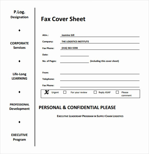 Cover Sheet Template for Resume Elegant 8 Sample Fax Cover Sheet for Resumes