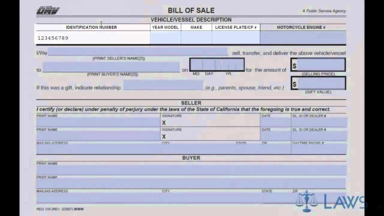 Create A Bill Of Sale Fresh Bill Of Sale