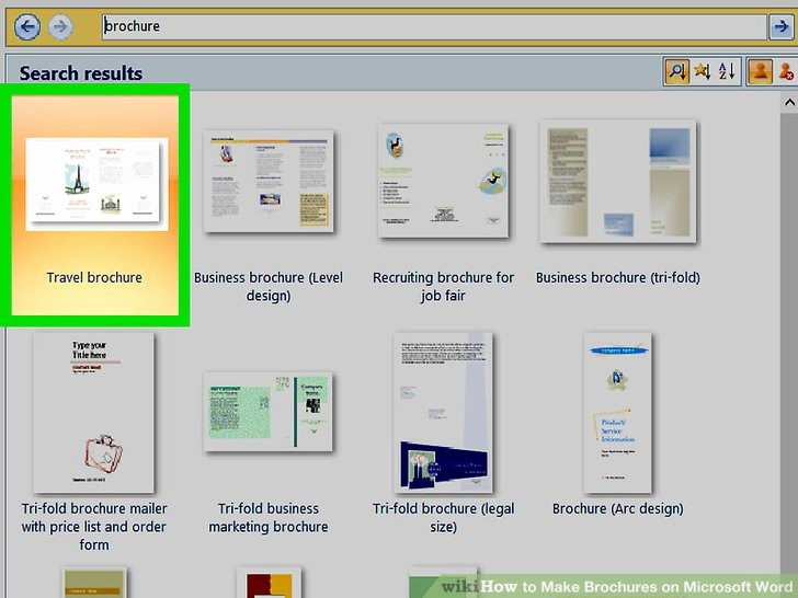 Make Brochures on Microsoft Word