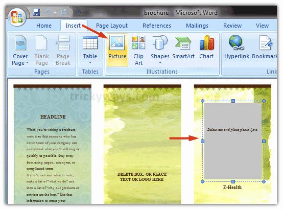 Create A Flyer In Word Elegant Create Brochure In Word 2007 or 2010