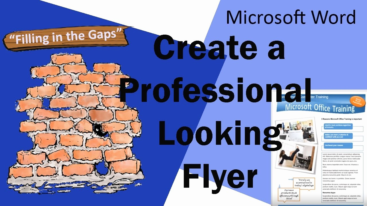 Create A Flyer In Word Fresh Create A Professional Looking Flyer In Microsoft Word