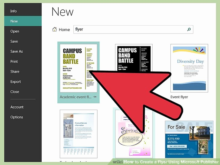 Create A Flyer In Word Fresh How to Create A Flyer Using Microsoft Publisher 11 Steps