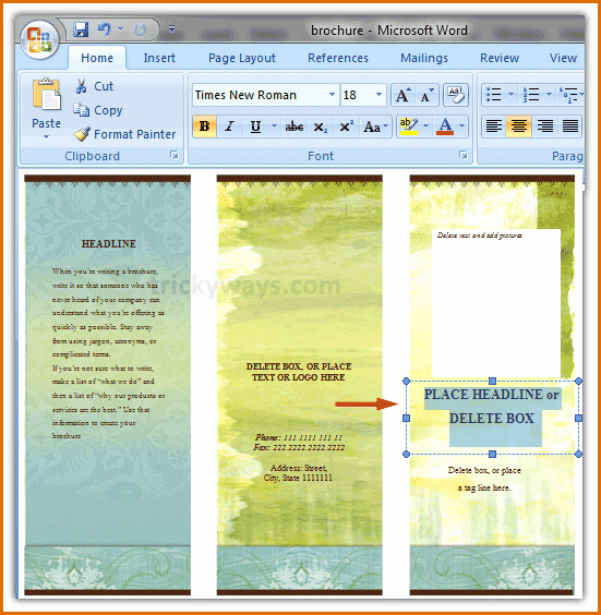 Create A Flyer In Word Inspirational 13 Free Brochure Templates for Microsoft Word