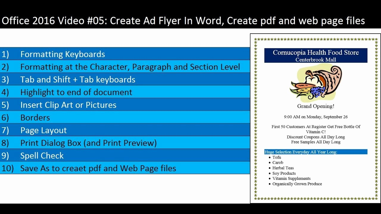 Create A Flyer In Word Inspirational Fice 2016 Video 05 Create Ad Flyer In Word Create Pdf