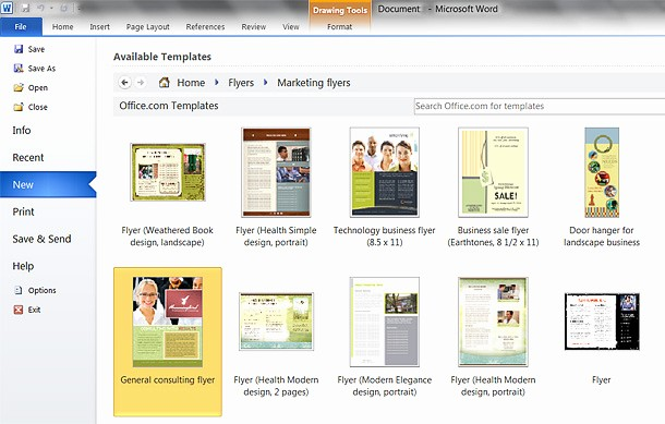 Create A Flyer In Word Inspirational Microsoft Word Brochure Template 2010 How to Make A