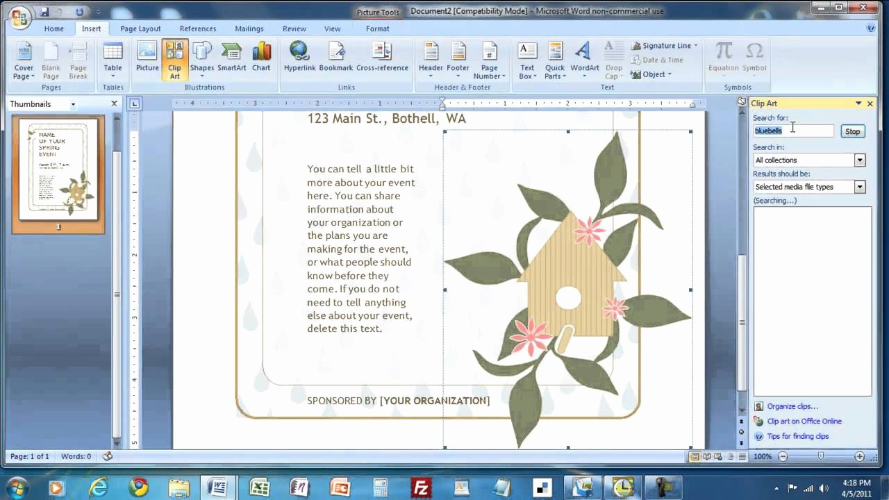 Create A Flyer In Word Luxury How to Create A Flyer In Ms Word4