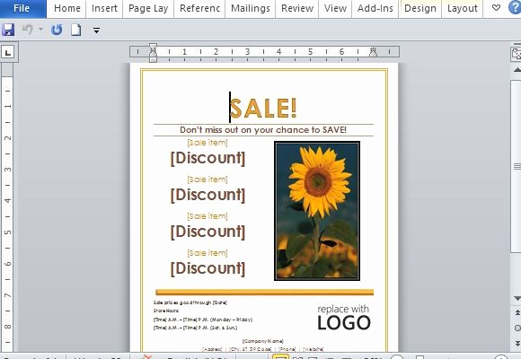 Create A Flyer In Word Luxury Sales Flyer Template for Word
