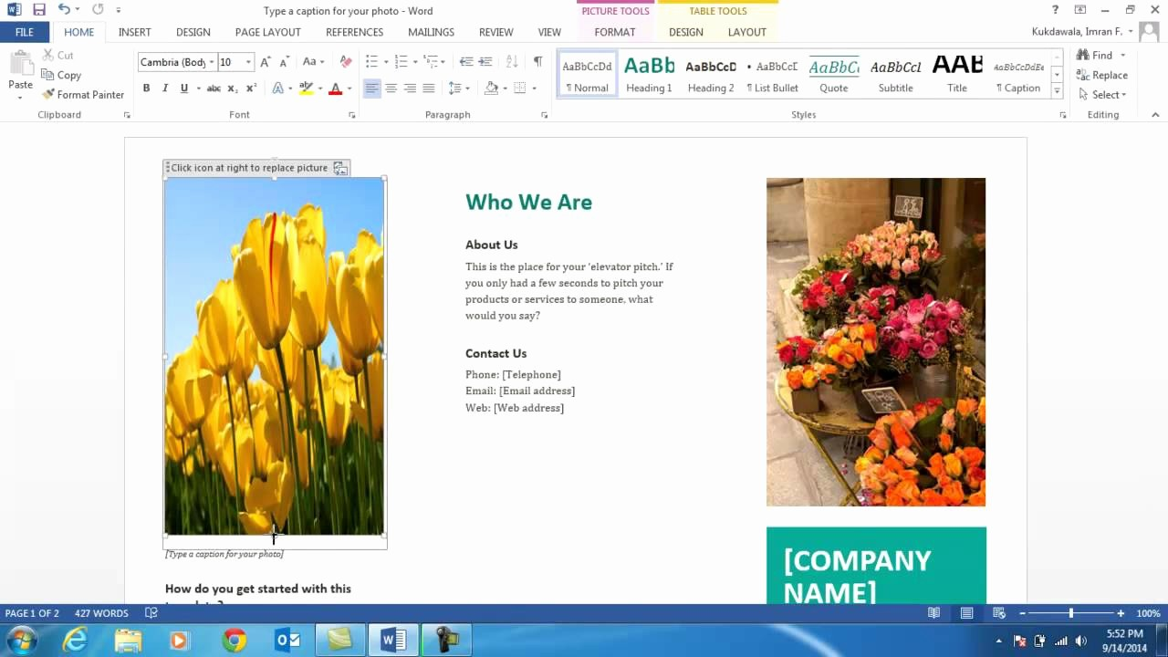 Create A Flyer In Word New How to Create A Brochure Using Ms Word 2013