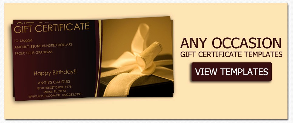 Create A Gift Certificate Free Awesome Gift Certificate Templates to Make Your Own Certificates