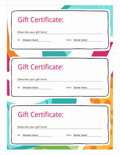 Create A Gift Certificate Free Beautiful Gift Certificate Template Free Download Create Fill