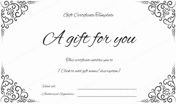 Create A Gift Certificate Free Beautiful Swirls Corner Gift Certificate
