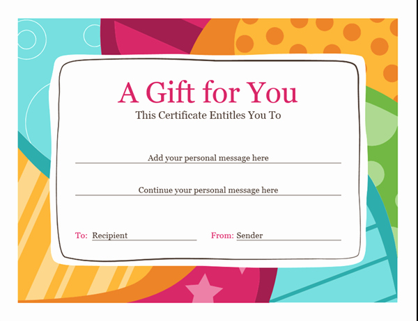 Create A Gift Certificate Free Lovely Birthday T Certificate Bright Design