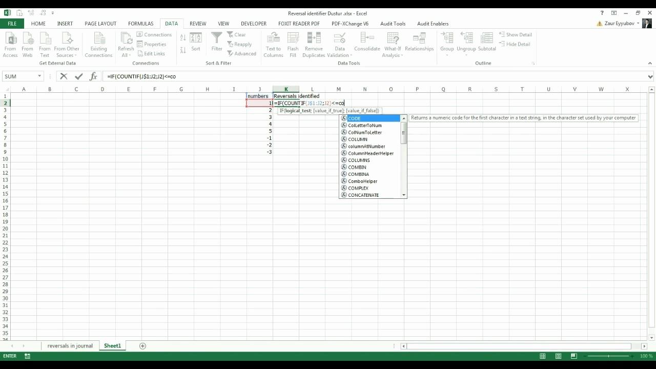 Create A Ledger In Excel Beautiful Excel Reversal Identifier formula Identify Reversals In