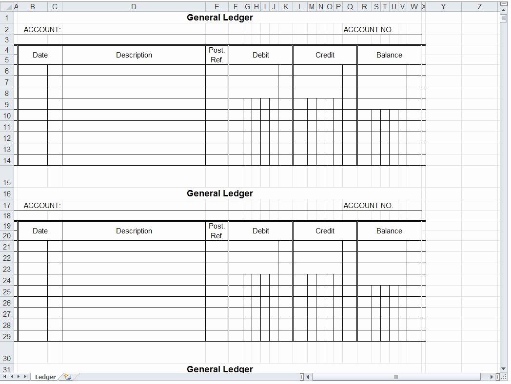 Create A Ledger In Excel Best Of General Ledger Spreadsheet